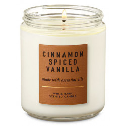 "Ароматическая свеча Bath and Body Works ""CINNAMON SPICED VANILLA"""